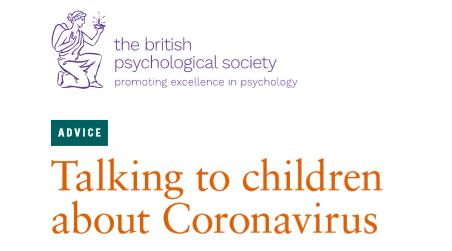 Talking to children about the coronavirus